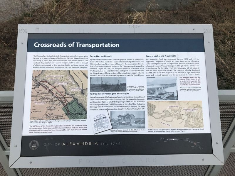 Crossroads of Transportation Marker image. Click for full size.
