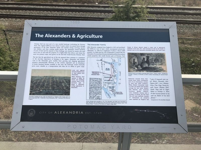 The Alexanders & Agriculture Marker image. Click for full size.