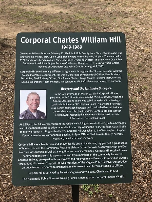 Corporal Charles William Hill Marker image. Click for full size.