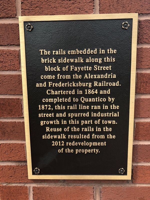 Alexandria and Fredericksburg Railroad Marker image. Click for full size.