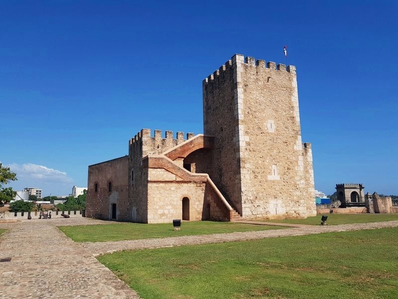 The Torre de Homenaje at the Fortress of Santo Domingo image. Click for full size.