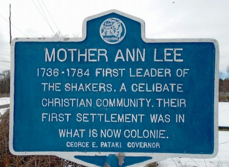 Mother Ann Lee Marker image. Click for full size.