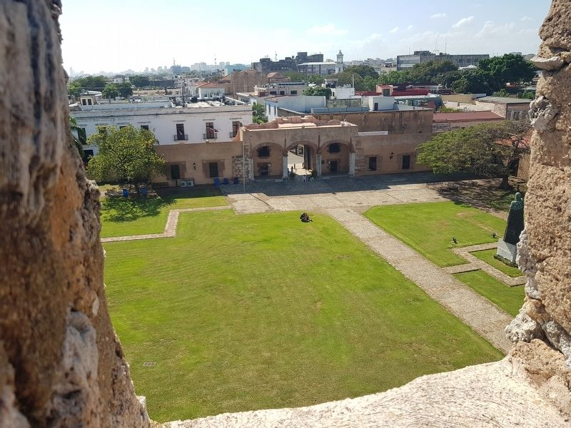 A view towards the west from the Tower at the Fortress of Santo Domingo image. Click for full size.