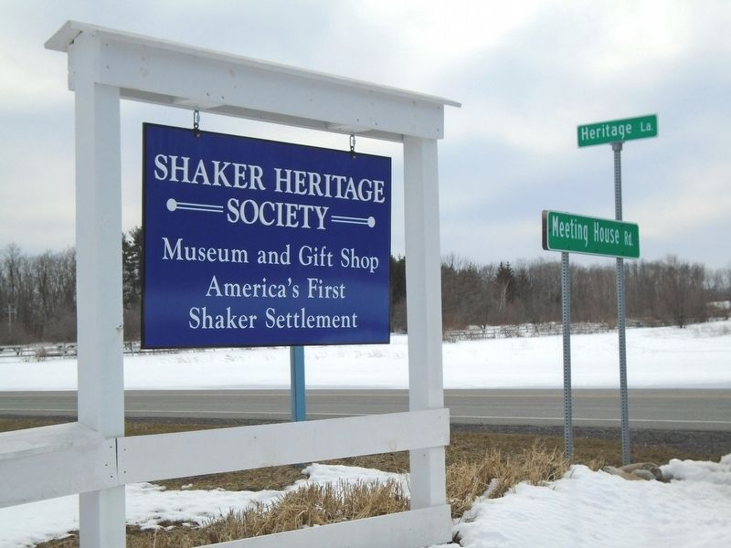America's First Shaker Settlement Marker image. Click for full size.