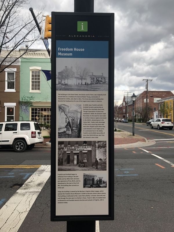 Freedom House Museum Marker image. Click for full size.