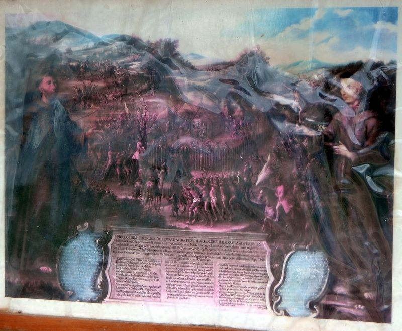 "Painting titled ""The Destruction of the Mission San Saba ..."" image. Click for full size."