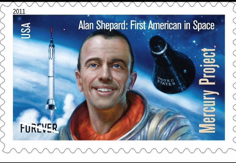 Alan Shepard: First American in Space image. Click for full size.