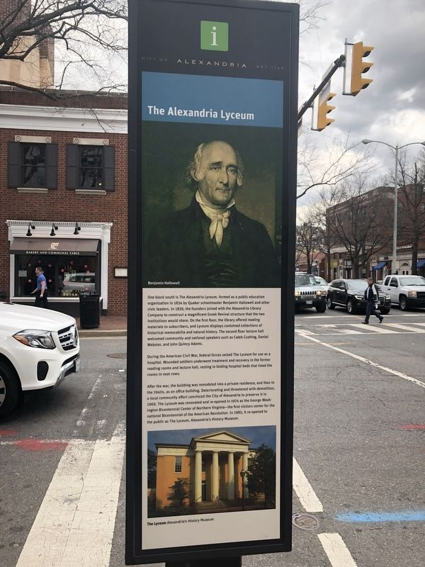 The Alexandria Lyceum Marker image. Click for full size.