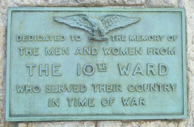 10th Ward War Memorial Marker image. Click for full size.