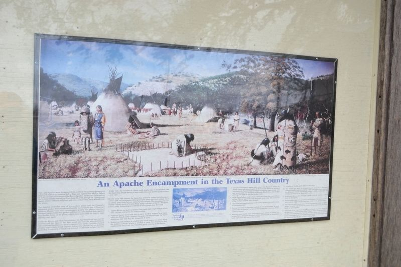 An Apache Encampment Marker image. Click for full size.