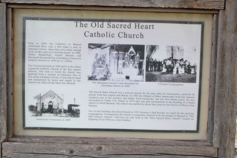 The Old Sacred Heart Catholic Church Marker image. Click for full size.