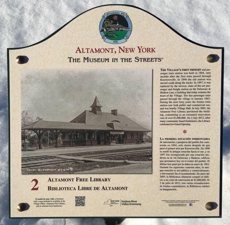 Altamont Free Library Marker image. Click for full size.