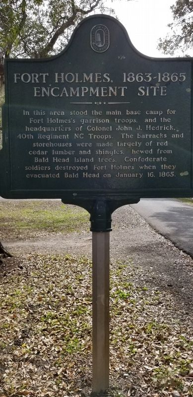 Fort Holmes 1863 - 1865 Encampment Site Marker image. Click for full size.