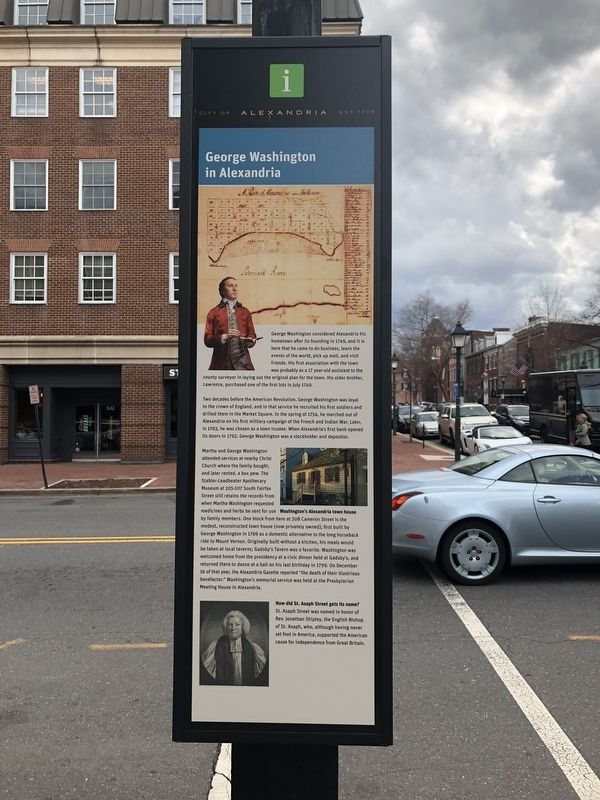 George Washington in Alexandria Marker image. Click for full size.