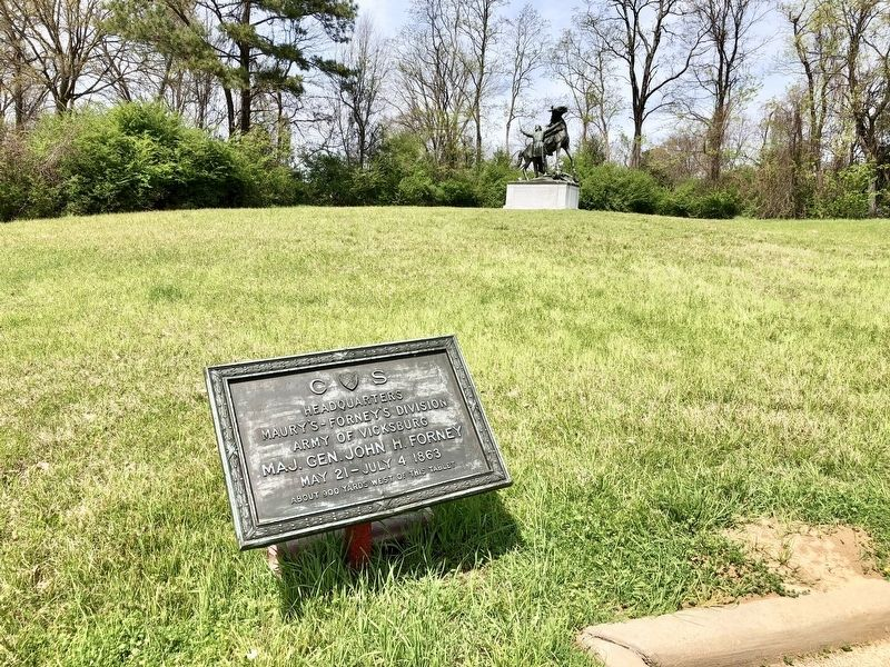 View of marker at the Great Redoubt area (Tour Stop #11). image. Click for full size.