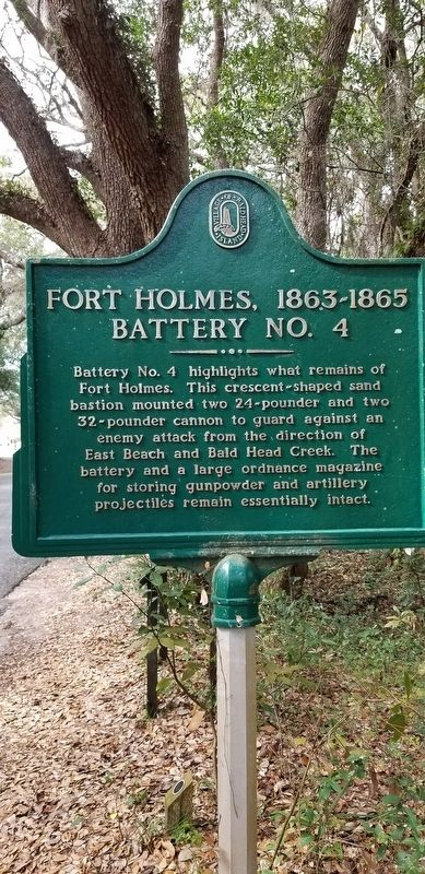 Fort Holmes, 1863 - 1865 Battery No. 4 Marker image. Click for full size.