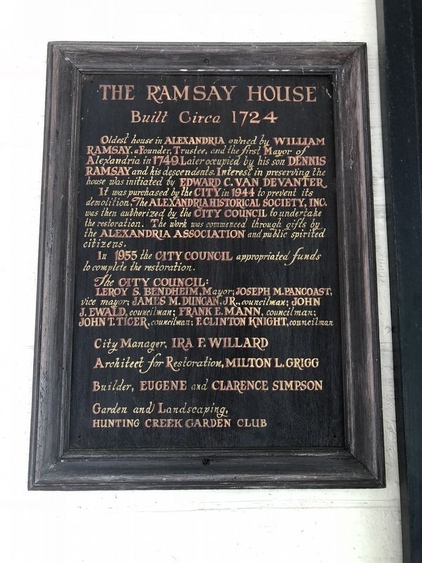 The Ramsay House Marker image. Click for full size.