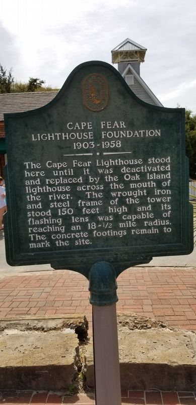 Cape Fear Lighthouse Foundation 1903 – 1958 Marker image. Click for full size.