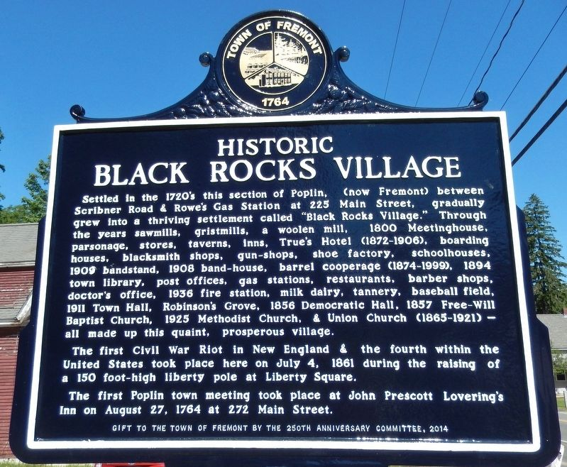Historic Black Rocks Village (<i>marker side 1</i>) image. Click for full size.