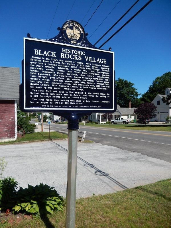 Historic Black Rocks Village (<i>marker side 1; tall view</i>) image. Click for full size.