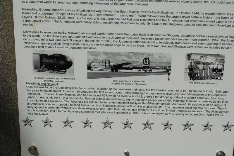 WWII - War In The Pacific Marker image. Click for full size.