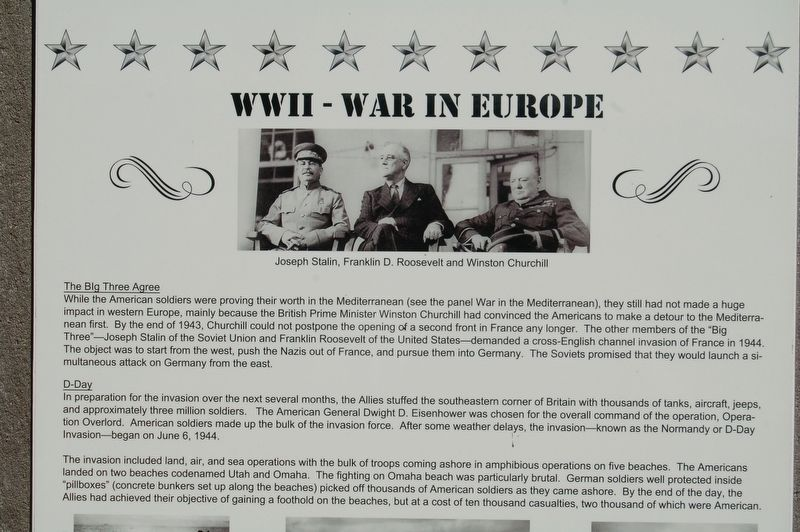 WWII - War In Europe Marker image. Click for full size.