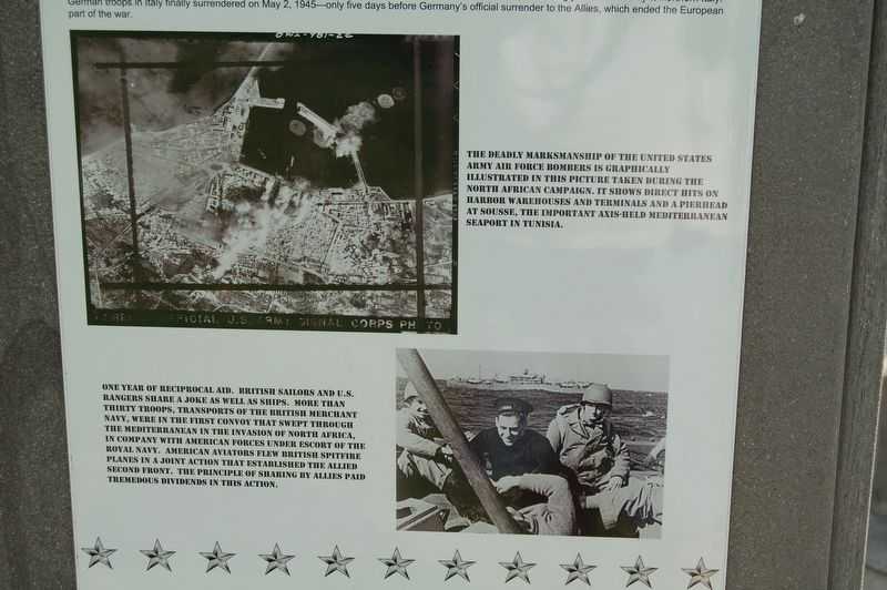 WWII - War In The Mediterranean Marker image. Click for full size.