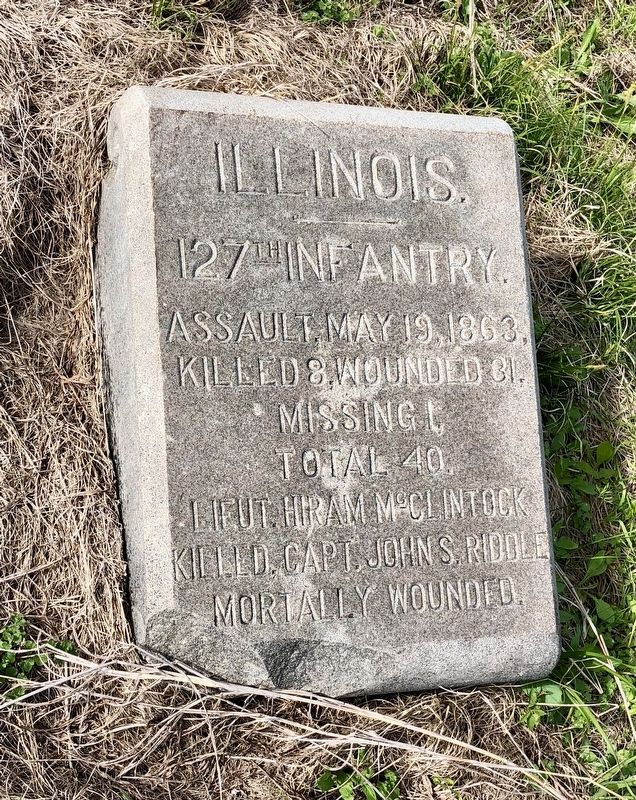 Illinois. 127th Infantry. Marker image. Click for full size.