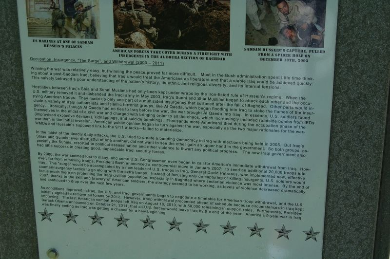 War on Terror: The Iraq War Marker image. Click for full size.
