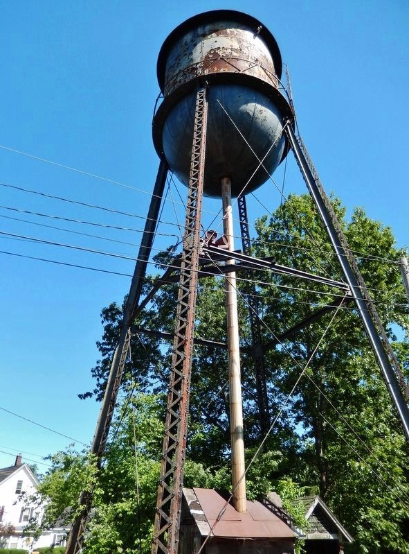 Old Water Tower (<i>adjacent to marker</i>) image. Click for full size.