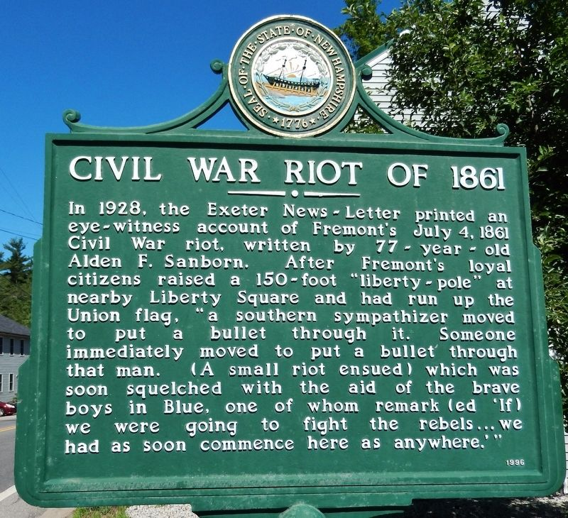 Civil War Riot of 1861 Marker image. Click for full size.