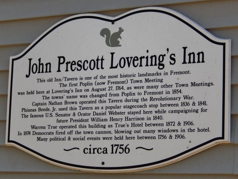 John Prescott Lovering's Inn Marker image. Click for full size.