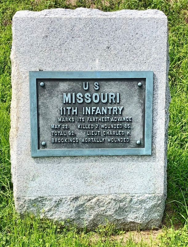 <small>U S</small> Missouri 11th Infantry Marker image. Click for full size.