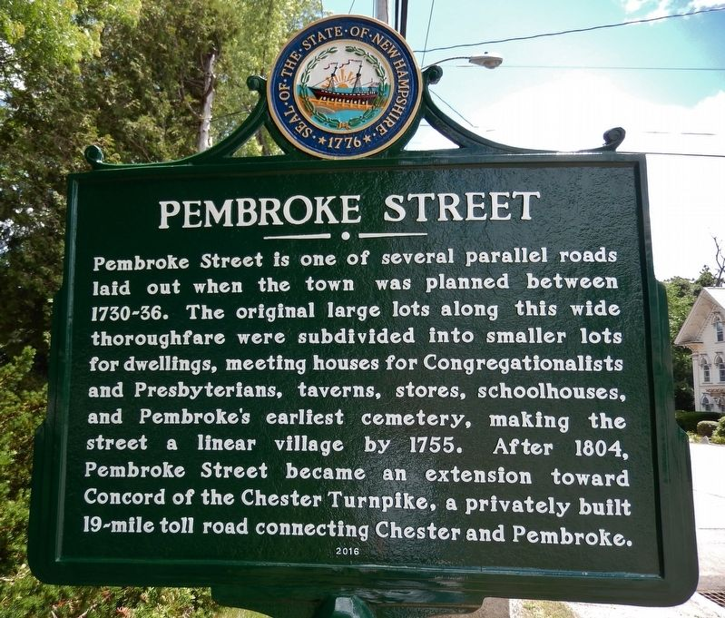 Pembroke Street (<i>marker side 1</i>) image. Click for full size.