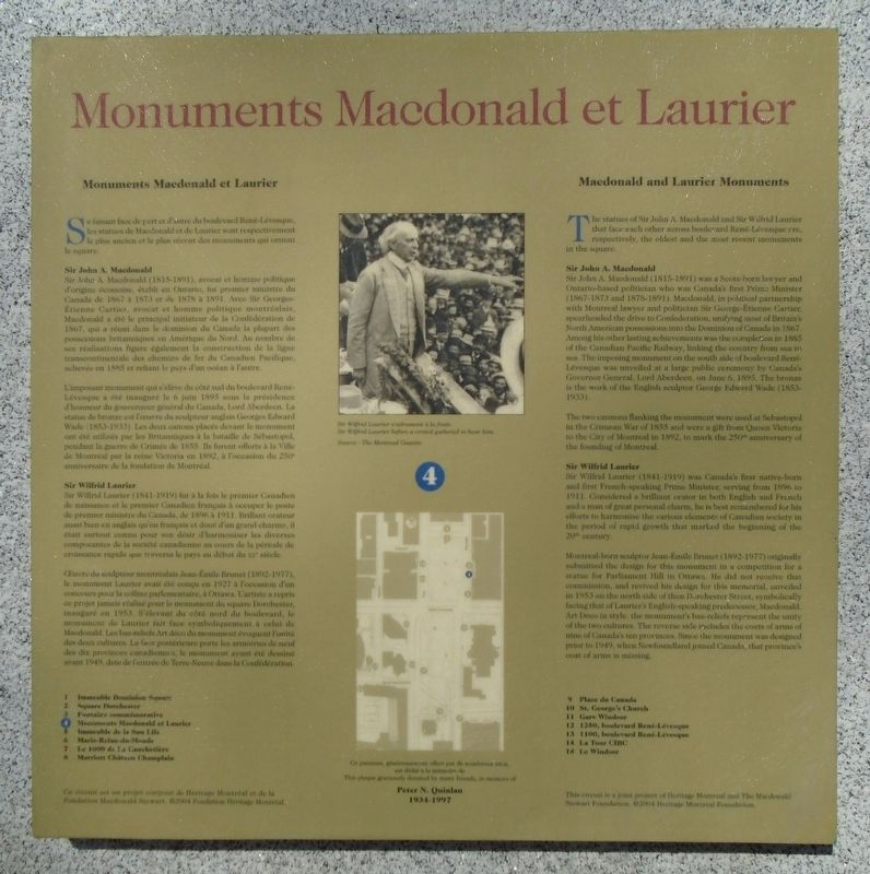 Monuments Macdonald et/and Laurier Monuments Marker image. Click for full size.
