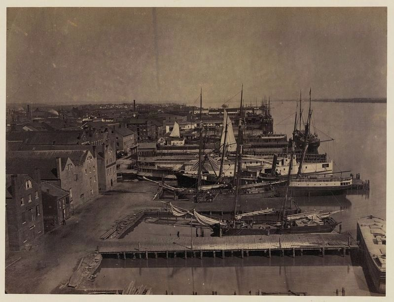 View from Pioneer Mill, looking up the wharf image. Click for full size.