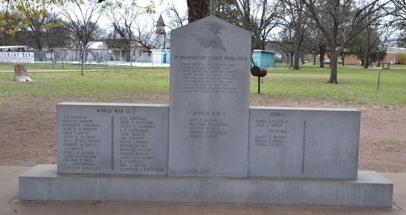 Menard County Memorial of Those Who Died image. Click for full size.