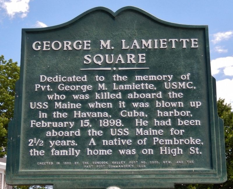 George M. Lamiette Square Marker image. Click for full size.