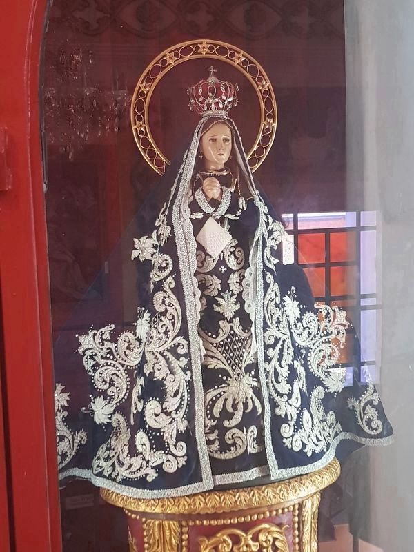 A version of the Virgin of Soriano, from the nearby Santo Domingo Mission chapel image. Click for full size.