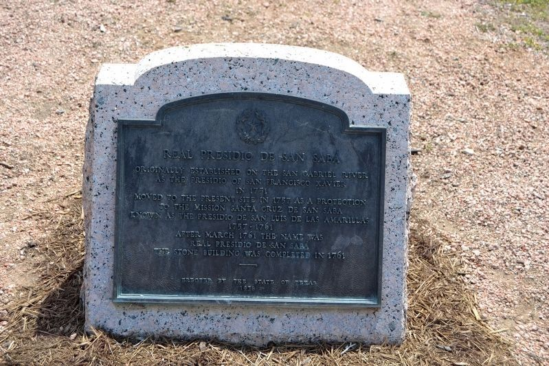 Real Presidio de San Saba Marker in 2018 image. Click for full size.