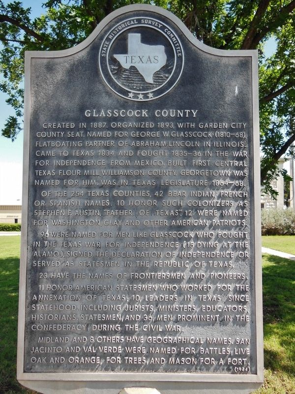 Glasscock County Marker image. Click for full size.
