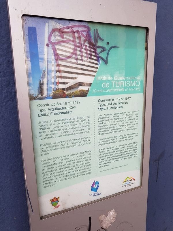 Guatemalan Institute of Tourism Marker image. Click for full size.