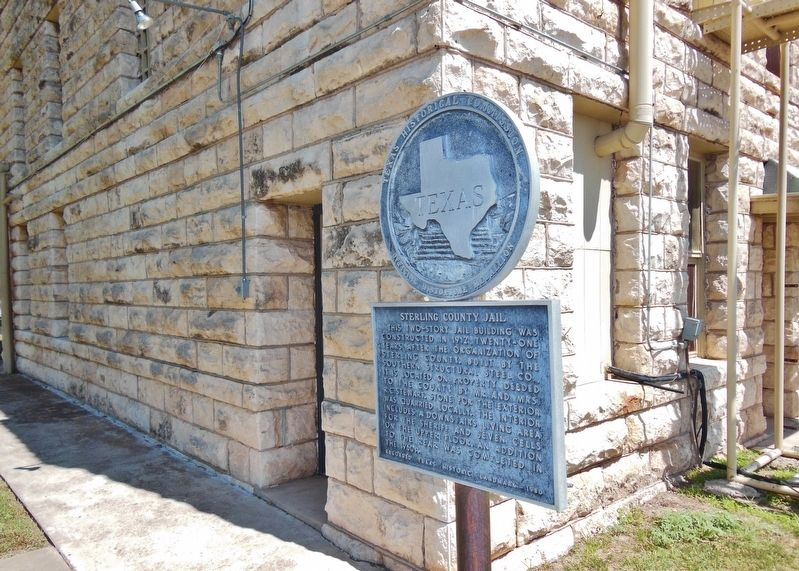Sterling County Jail Marker (<i>wide view</i>) image. Click for full size.