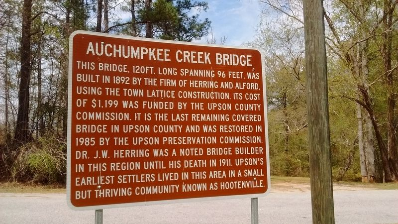Auchumpkee Creek Bridge Marker image. Click for full size.