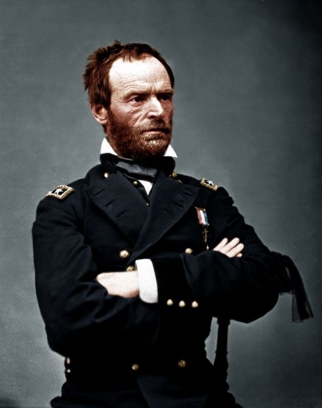Maj. Gen. William Tecumseh Sherman, USA image. Click for full size.