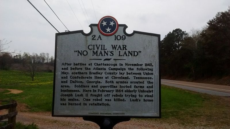 "Civil War ""No Man's Land"" Marker image. Click for full size."