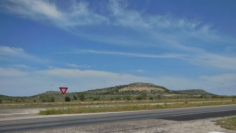 US Highway 87 (<i>view north from marker; former townsite of Montvale</i>) image. Click for full size.