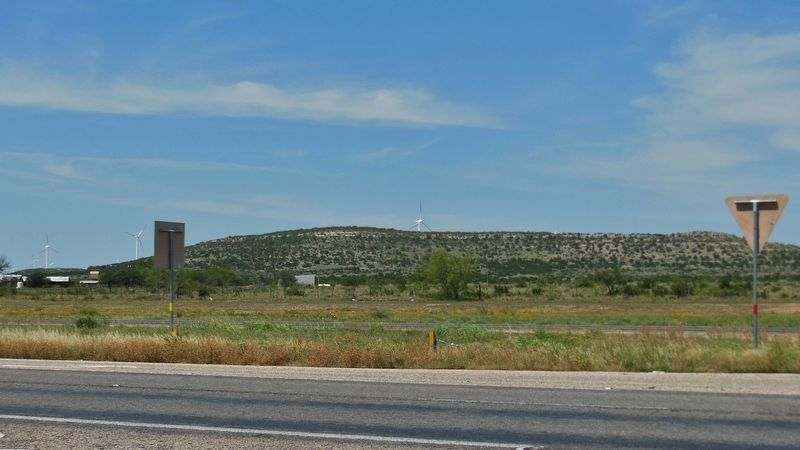US Highway 87 (<i>view south from marker; former townsite of Montvale</i>) image. Click for full size.
