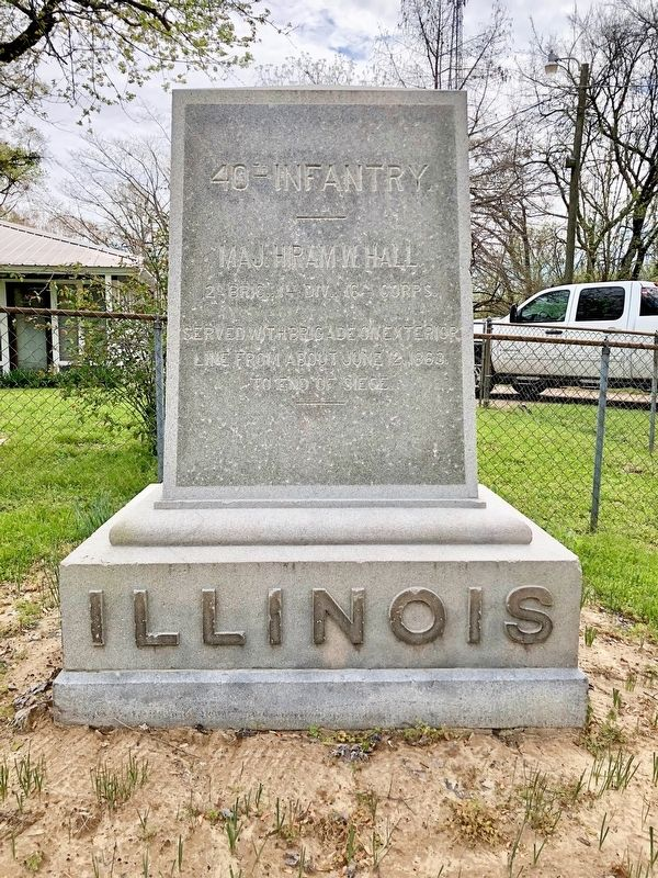 Illinois 40th Infantry. Marker image. Click for full size.