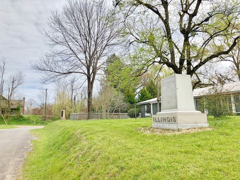 Illinois 40th Infantry monument located north of Vicksburg National Military Park. image. Click for full size.